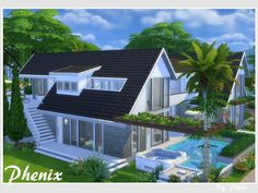 Sims 4 Updates: TSR - Houses and Lots, Residential Lots : Phenix house by Philo, Custom Content Download!
