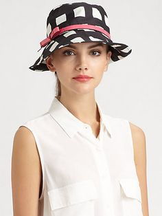 1fba3fad9ec Kate Spade New York Pop Of Color Bow Bucket Hat