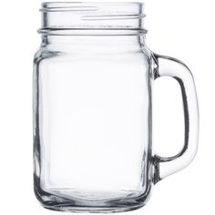 Core 16 oz. Mason Jar / Drinking Jar with Handle - 12 / Case