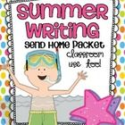 Summer Writing Send Home Packet {classroom use too!}$    The Summer is near and the little ones have just met or are just about to meet their end of t...
