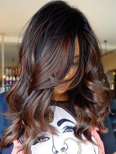 Brown Ombre Hair, Brown Hair With Highlights, Ombre Hair Color, Hair Color Balayage, Brown Hair Colors, Color Highlights, Balayage Ombre, Subtle Balayage, Brown Balayage