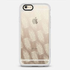 Feather Boa Ivory - Transparent - New Standard Case @casetify #Casetify #iphonecase #iphone6 #clearcase #feather #ivory #pretty