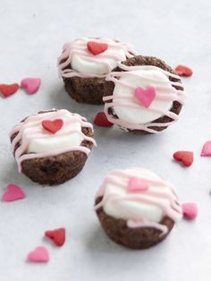 Valentine's Day Brownie Marshmallow Bites