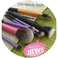 #DIY: Cleaning your beauty tools to make them last longer and protect your skin from zits n breakout:  Step1: Add few drops of baby shampoo or any mild shampoo in warm water, in a deep bowl.  Step 2: Dip the brushes in this bowl and leave for 30min. Step 3: Swivel the brushes in the bowl and rinse them in running water. Step4: Air dry over a clean cloth.  Tadaa.. Your brushes are ready to use as new.  More on #snapchat(shivanisatoliya)  #beauty #beautyblog #skincare #indianblogger