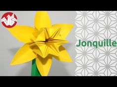 Origami - Jonquille sur tige - Daffodil on Stem - YouTube