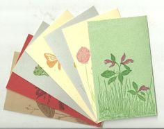 Gwen Frostic Block Print Post Cards  Charming by IrrenaysTreasures, $5.99