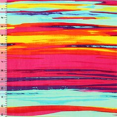 Painted Sunset Lycra Spandex Knit Fabric