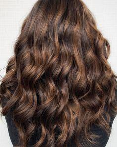 Rich brunette balayage with warm caramel tones! Rich Brunette, Balayage Brunette, Brunette Hair, Aveda Spa, Aveda Salon, Aveda Hair Color, Salon Services, Hair Makeup, Long Hair Styles