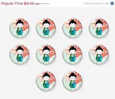 SALE 10 pcs 12mm Photo Glass Cabochons Cabs by mixnmatchsupplies, $2.84