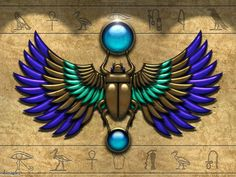 My Winged Scarab Tattoo by Janet-Asuka on DeviantArt Egyptian Beetle, Egyptian Scarab, Egyptian Mythology, Egyptian Goddess, Egyptian Symbols, Ancient Egyptian Art, Mayan Symbols, Viking Symbols, Viking Runes