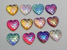 Buy Heart Resin Flatback Cabochons Mermaid Fish Scale Dome Findings Blue at online store Art Nouveau, Heart Painting, Rock Painting, Heart Chain, Cheap Beads, Fish Scales, Beaded Earrings, Painted Rocks, Color Mixing