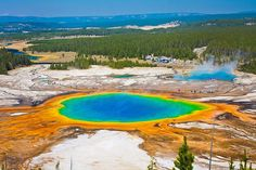Grand Prismatic Spring in Yellowstone-Nationalpark