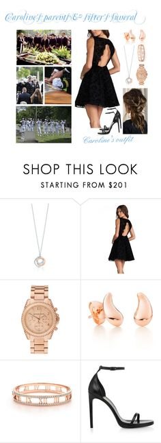 """Caroline's parents & sister's funeral"" by karolinebhn ❤ liked on Polyvore featuring Tiffany & Co., Alice + Olivia, Michael Kors, Elsa Peretti and Yves Saint Laurent"