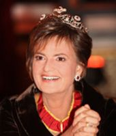 And I'm pleased to say that Princess Gloria still wears that lovely ruby tiara
