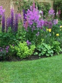 40 simple & beautiful backyard landscaping ideas on a budget 21 Landscaping Along Fence, Backyard Landscaping, Landscaping Ideas, Garden Pictures, Garden Photos, Landscape Plans, Landscape Design, Fence Design, Garden Design