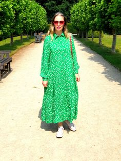 A Walk At Rufford Abbey County Park Summer 2020 Nottingham Winter Wonderland, Aldi S, Lynn Anderson, Dot Day, Big Country, County Park, Pink Outfits, What I Wore, Green Dress