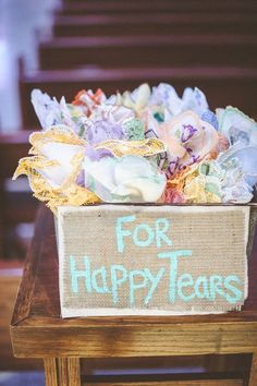 vintage hankies for all the happy tears / http://www.deerpearlflowers.com/vintage-bohemian-wedding-ideas/