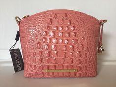 Brahmin Mini Duxbury Crossbody Burlwood Pink Melbourne Leather RARE | eBay