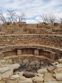 Aztec Ruins National Monument, New Mexico by kevinrussmobile. Early American settlers mistook the ruins as Aztec. They actually were constructed by the Anasazi in the to centuries. The ruins are a UNESCO World Heritage site. New Mexico Road Trip, Travel New Mexico, New Mexico Usa, Maya, Aztec Ruins, Land Of Enchantment, Ancient Ruins, Travel Usa, Alaska Travel