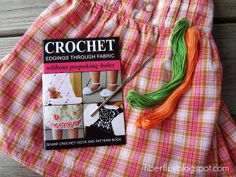 The Sharp Crochet Hook...crochet without pre-poking holes in fabric...neat!