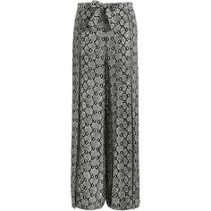 Zimmermann Hyper Cobra Split Pant ($375) ❤ liked on Polyvore featuring pants, snakeskin pants, python pants, snake pants, swim pants and snakeskin print pants