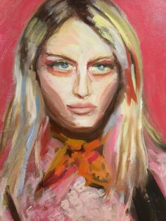 Abstract fashion portrait in oil