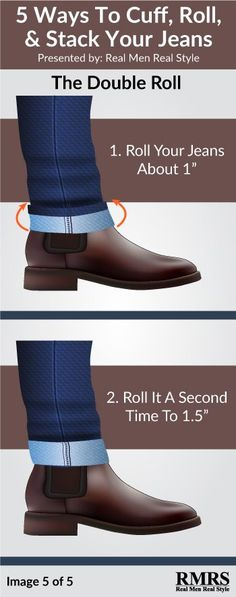 Stacking vs Cuffing vs Rolling Your Jeans | The Right Way To Wear Your Dress Boots (Click on the image to learn how to cuff your jeans)