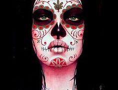 fotos de maquillajes de Catrina y calavera mexicanas día de los muertos | idisfraz
