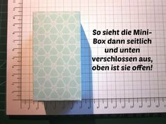 "stampin with fanny: Anleitung: Goodies ""Eiszauber""/ Mini-Box"