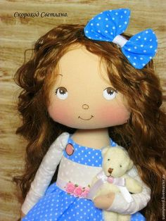 cute Pretty Dolls, Cute Dolls, Beautiful Dolls, Bear Doll, Hello Dolly, Felt Diy, Soft Dolls, Fabric Dolls, Doll Face
