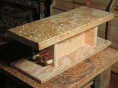 Woodworking For Kids How to Build Workshop Mini-Bench by Sue Robishaw tabletop woodworking bench Kids Woodworking Projects, Woodworking Jig Plans, Essential Woodworking Tools, Antique Woodworking Tools, Woodworking Workshop, Workbench Plans, Learn Woodworking, Woodworking Techniques, Woodworking Furniture