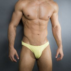 Yellow BodyBuilding Posing Gear by EgickSwimwears on Etsy