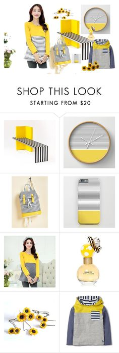 """""""Yellow Stripes!"""" by treasury ❤ liked on Polyvore featuring Ceres and Marc Jacobs"""