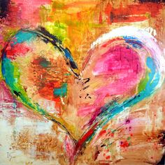 colorful Heart Paintings