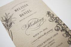 Botanic Garden Wedding Invitation Printable by 3EggsDesign on Etsy https://www.etsy.com/listing/125692262/botanic-garden-wedding-invitation