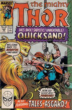 THOR #402 MARVEL COMICS TOM DeFALCO/RON FRENZ/JOE SINNOTT 1989 vf-(7.5)