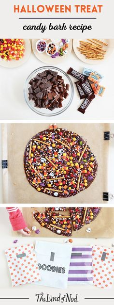 Got tons of leftover candy? Use our easy recipe and turn them into Halloween candy bark.