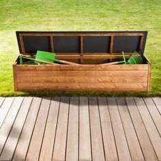 Rangement exterieur on pinterest outdoors storage and for Banc coffre de jardin