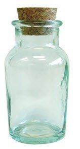 Beautiful Sea Glass Spice Jars with Cork Lids from Spain [18ct]