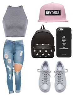 """""""Tuesday 😔😧🙄"""" by superflylala ❤ liked on Polyvore featuring Kate Spade, Missguided, STELLA McCARTNEY, Topshop, OneTeaspoon, Valentino, H&M, Yves Saint Laurent and adidas"""