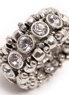 PHILIPPE AUDIBERT Rhinestone elasticated ring US$120 all taxes and duties included