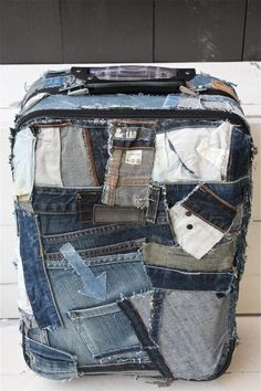 duffel bag out of old jeans - Google Search