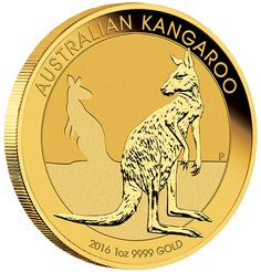 RELEASE DATE: The Perth Mint will release the 2016 Australian Kangaroo Gold Coin Series on 21st September 2015, we expect a delivery soon after this date. New 2016 Australian Kangaroo 1oz Gold Coin. Each coin weighs 1 Troy Ounce and are 999.9 Fine Gold. These coins are minted & supplied by The Perth Mint, Australia.  The 2016 1oz Gold Kangaroo coin portrays a kangaroo resting on its haunches with the silhouette of another kangaroo in the background.