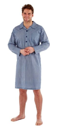 Sleepy Joes Mens Cotton Lightweight Poplin Nightshirt Size UK M-XXXL NEW