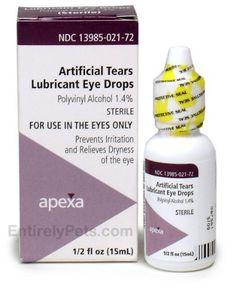 Artificial Tear Solution 15ml Apexa