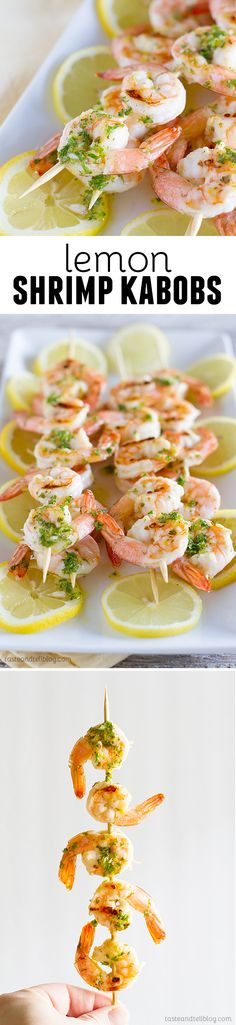 Lemon Shrimp Kabobs from TasteAndTellBlog.com