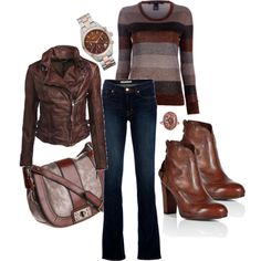 """Colder Weather"" by jliz516 on Polyvore, love the leather!"