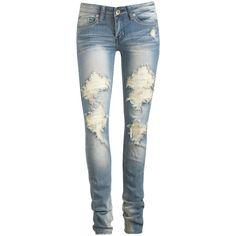 Heavy Destruction Skinny Jeans from wetseal, sooo cute!