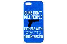 Guns Don't Kill People Funny Phone Case