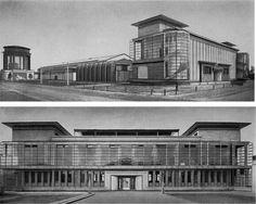 1914, Walter Gropius,model factory for the Werkbund Exhibition - spiral staircase